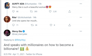 """I Speak With Millionaires"""" – Mercy Eke Replies Troll Who Mocked Her Igbo Accent"""